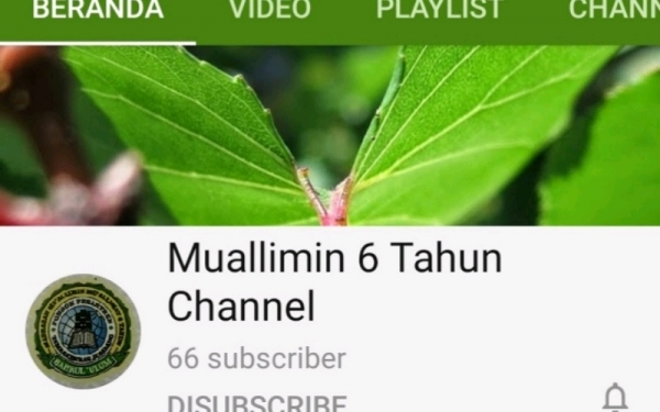 Channel YouTube Muallimin 6 Tahun Dilaunching