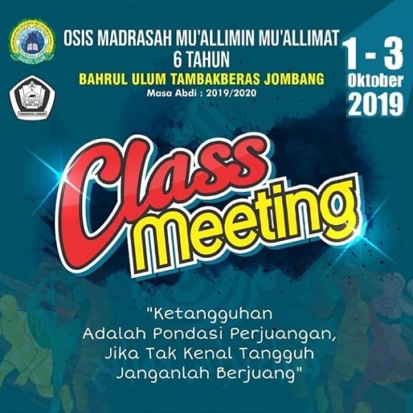 Class Meeting OSIS 2019